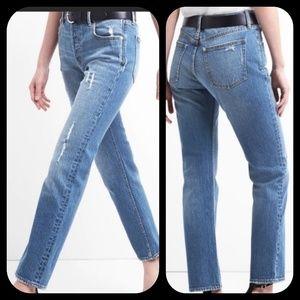 Gap CONE DENIM mom styley Hi rise Destructed jeans